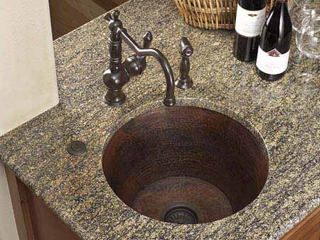 Copper Kitchen Sink - Dark Smoke Finish