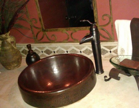CS6001L15 Copper Vessel Sink - Dark Smoke