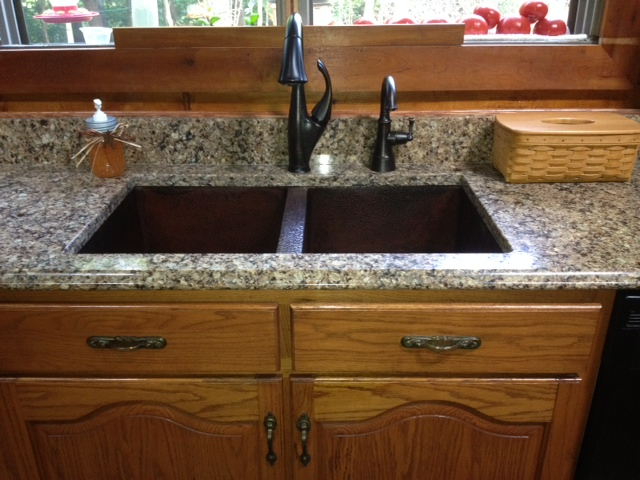 Installation Photos - Mark And Cindy | Copper Sinks Online