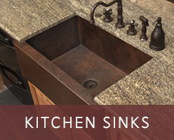 Handcrafted copper farmhouse sinks