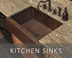 Handcrafted copper kitchen sinks