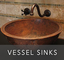Extensive collection of copper vessel sinks