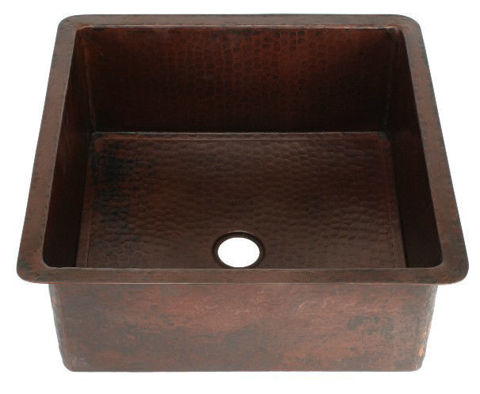 "18"" Square Copper Bar Sink by SoLuna"