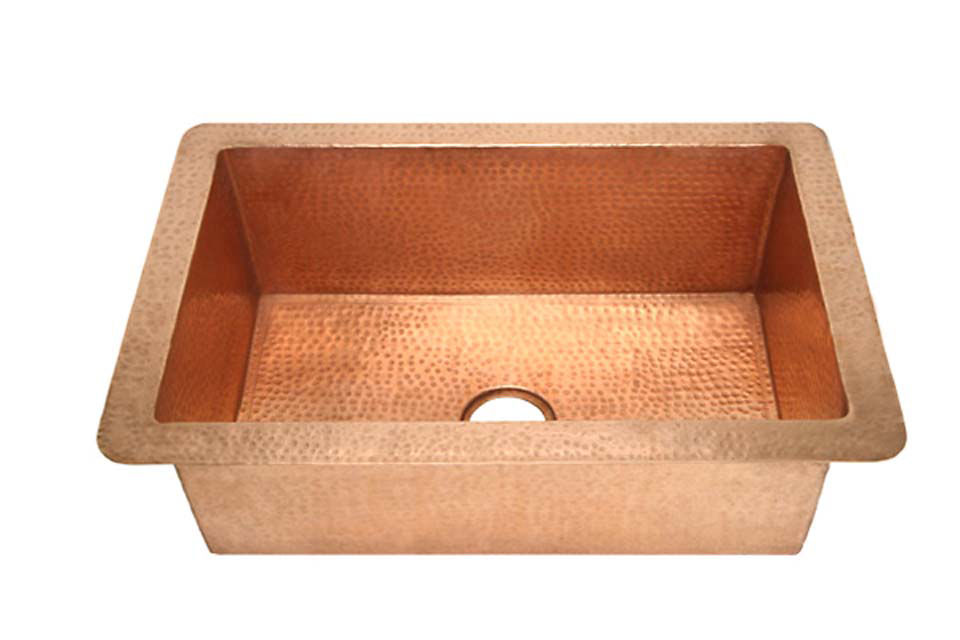"""Picture of 30"""" Copper Kitchen Sink by SoLuna"""