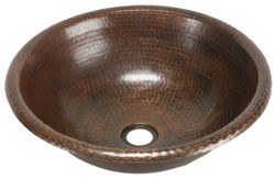 "Picture of 15"" Round Copper Bathroom Sink by SoLuna"