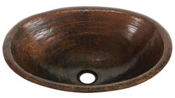 "Picture of 17"" Oval Copper Bathroom Sink by SoLuna"