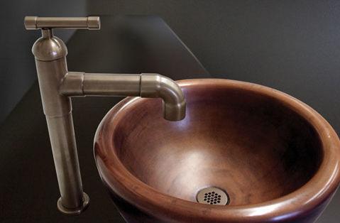 Sonoma Forge | Bathroom Faucet | Brut Elbow Spout Vessel | Deck Mount