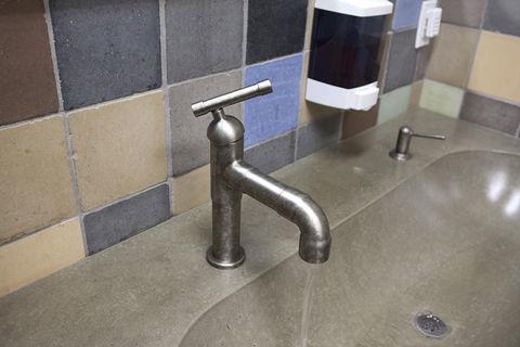 Sonoma Forge   Bathroom Faucet   Brut Elbow Spout   Deck Mount