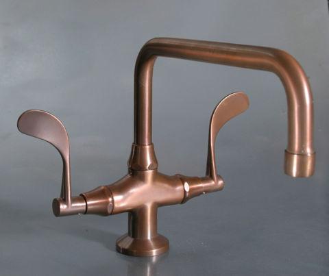 Sonoma Forge   Bathroom Faucet   Wingnut Fixed Spout   Deck Mount