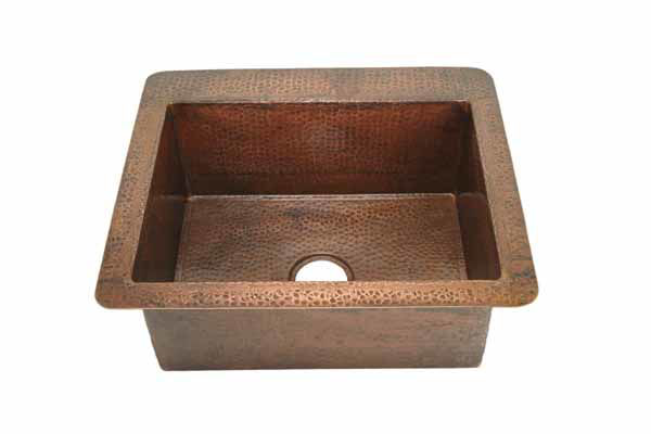 "Picture of 25"" Copper Bar Sink by SoLuna"