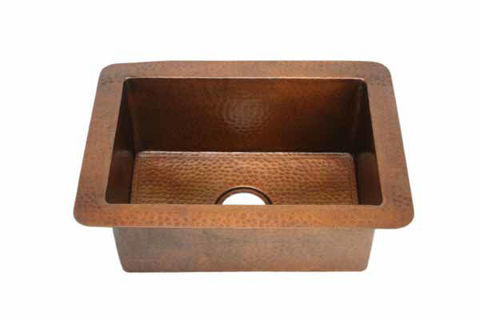 "22"" Copper Bar Sink by SoLuna"