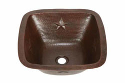 """15"""" Copper Bar Sink w/Rounded Edge - Stars by SoLuna"""