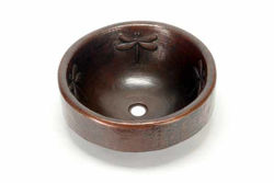 "17"" Prescenio Copper Vessel Sink - Dragonfly by SoLuna"