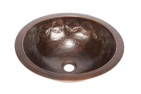 "17"" Round Copper Bathroom Sink w/Joining Rings by SoLuna"