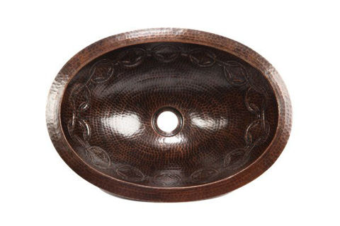 """19"""" Oval Copper Bathroom Sink - Joining Rings by SoLuna"""