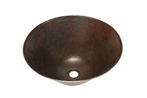"16"" Espeso Pirucho Copper Vessel Sink by SoLuna"
