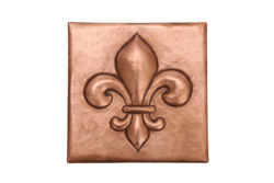 Copper Tile by SoLuna - Fleur de Lis