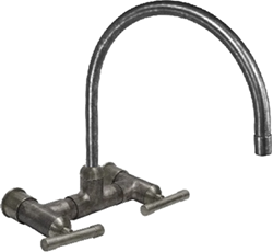 Waterbridge Wall-Mount Faucet with Arched Spout
