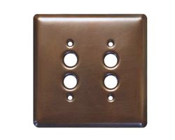 1-3 gang Push Button Copper Switch Plate Cover
