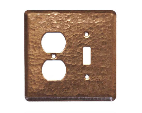 2 gang Duplex-Toggle Copper Switch Plate Cover