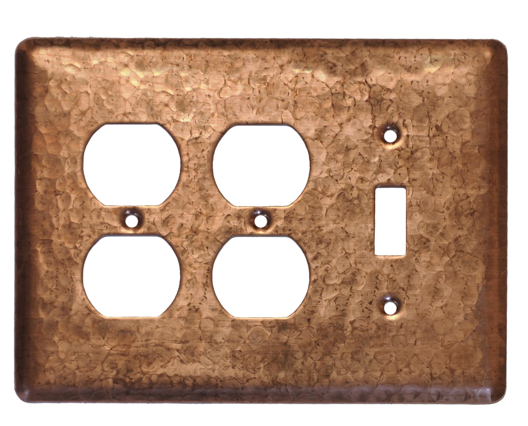 Picture of 3 gang Duplex-Toggle Copper Switch Plate Cover