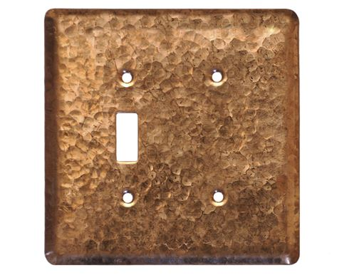 2 gang Toggle-Blank Copper Switch Plate Cover