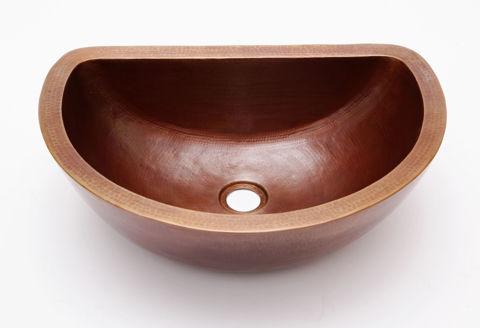 """18"""" D-Shape Copper Vessel Sink by SoLuna"""