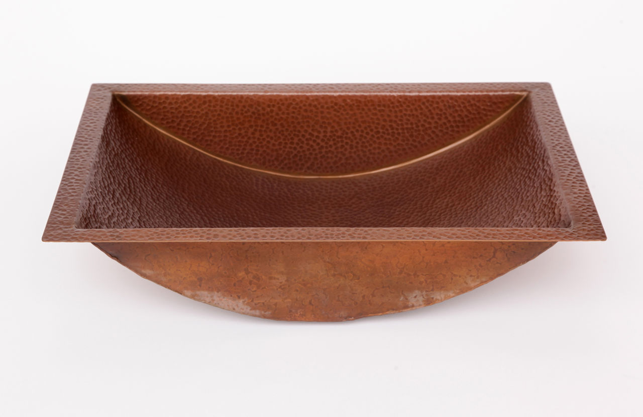 """Picture of 20.5"""" Trough Copper Bathroom Sink by SoLuna"""