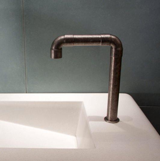 Picture of Sonoma Forge | Bathroom Faucet | Elbow Spout Vessel | Deck Mount | Hands Free