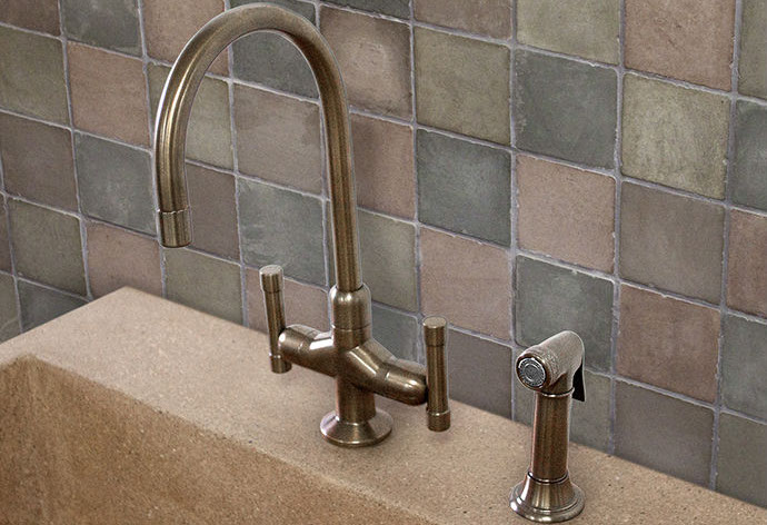 Picture of Sonoma Forge   Kitchen Faucet   Cuvee with Side Spray   Deck Mount