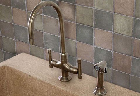 Sonoma Forge   Kitchen Faucet   Cuvee with Side Spray   Deck Mount