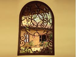 Picture of Decorative Wrought Iron Mirror Frame