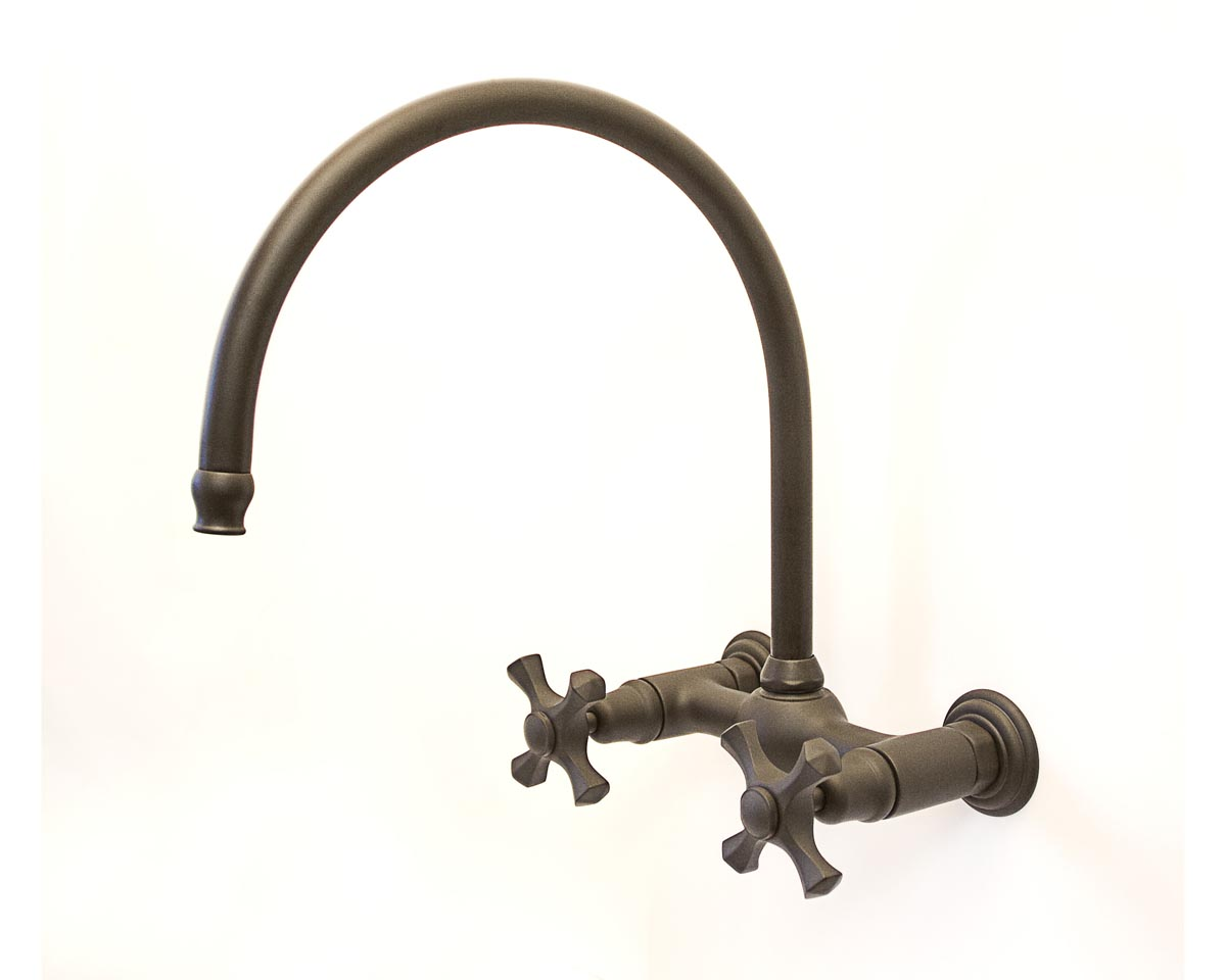 Picture of Sonoma Forge | Kitchen Faucet | Brownstone Gooseneck | Wall Mount