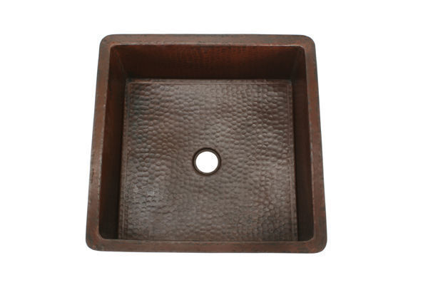 "Picture of 18"" Square Copper Bar Sink by SoLuna"