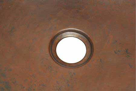 "Picture of 16"" Hexagon Copper Bar Sink - Grapes by SoLuna"