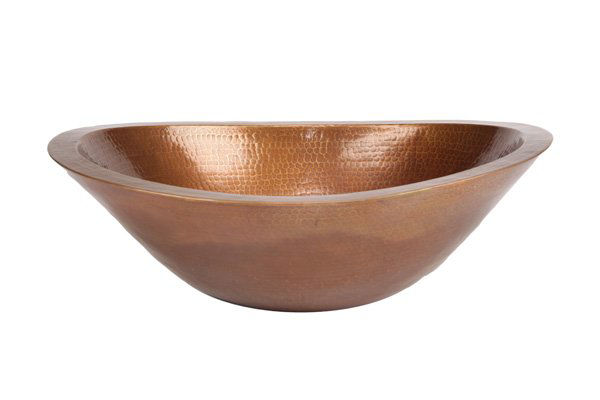 "Picture of 19"" Oval Caliz Copper Vessel Sink by SoLuna"