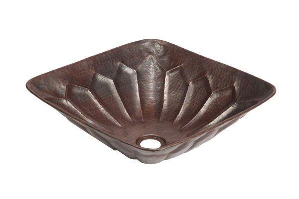 """Picture of 14.5"""" Espeso Alegre Copper Vessel Sink by SoLuna"""