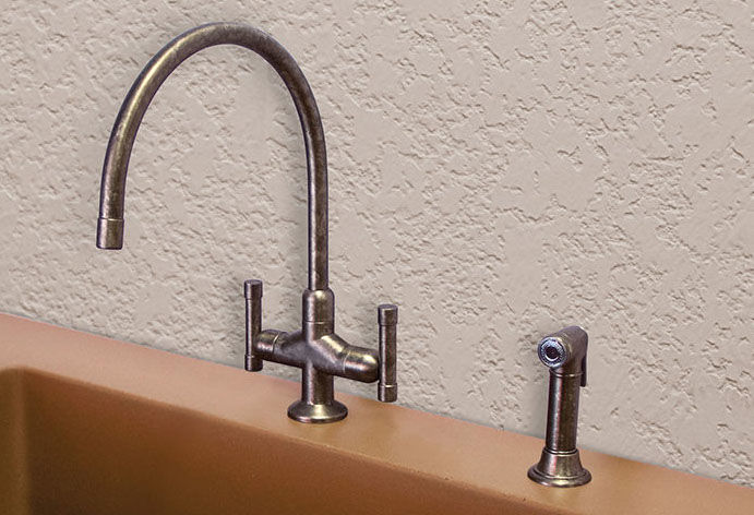 Picture of Sonoma Forge | Kitchen Faucet | Cuvee Extended Spout | Deck Mount
