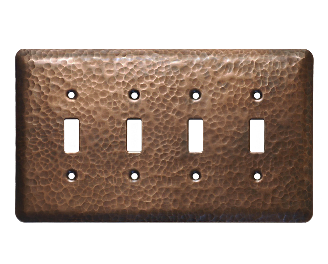 Picture of 1-5 gang Toggle Copper Switch Plate Cover