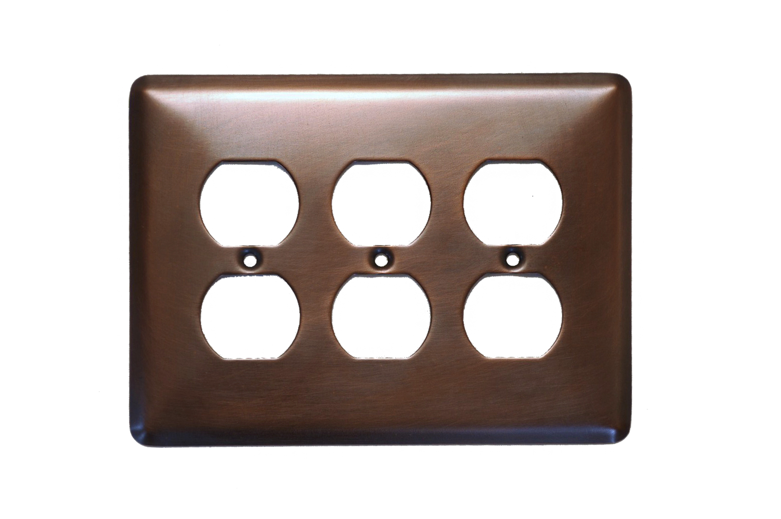 Picture of 1-5 gang Duplex Outlet Copper Plate Cover