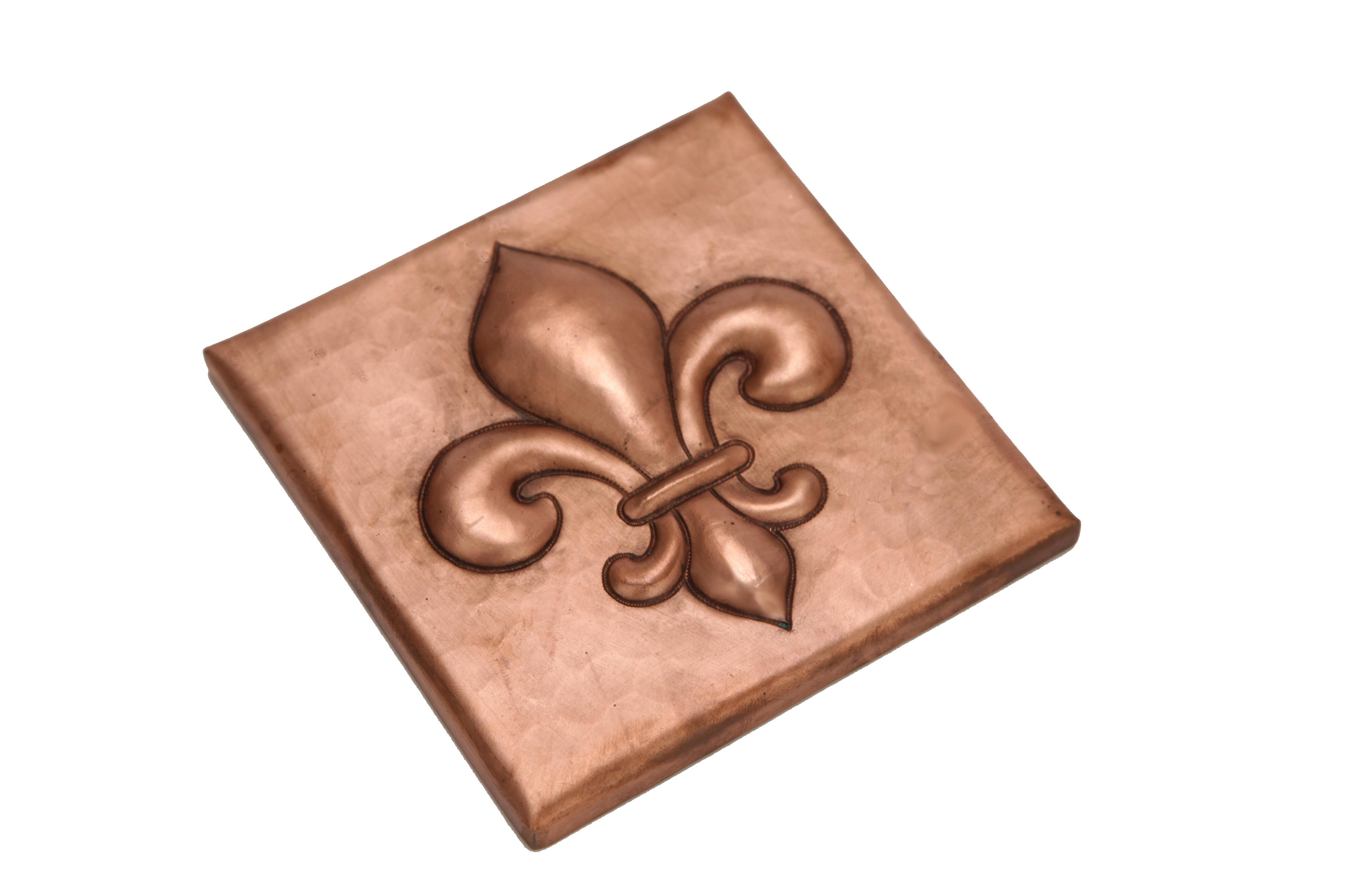 Picture of Copper Tile by SoLuna - Fleur de Lis