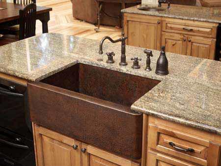 "36"" Single Well Copper Farmhouse Sink by SoLuna"