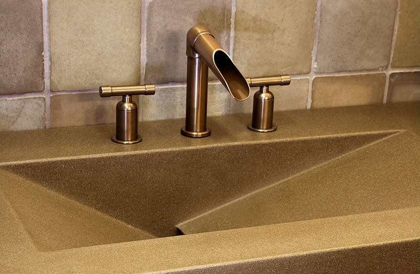 Picture of Sonoma Forge   Bathroom Faucet   Wherever Waterfall   Deck Mount