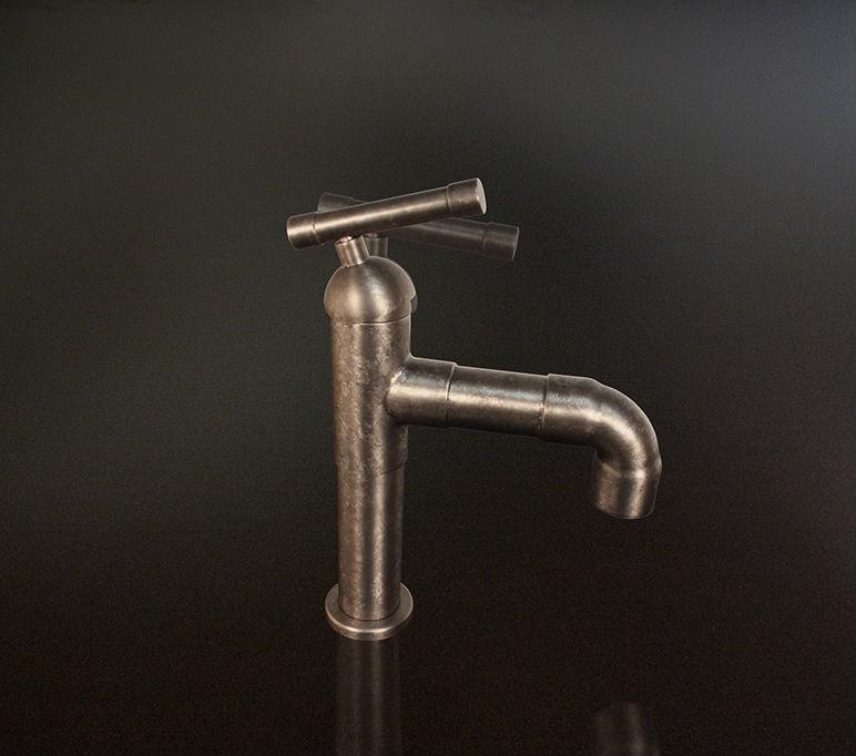 Picture of Sonoma Forge   Bathroom Faucet   Brut Elbow Spout   Deck Mount
