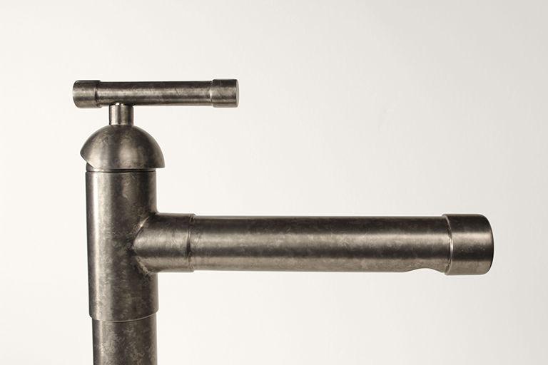 Picture of Sonoma Forge | Bathroom Faucet | Brut Cap Spout | Deck Mount