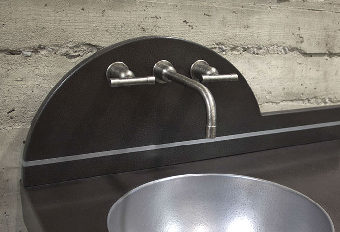 Picture of Sonoma Forge   Bathroom Faucet   WherEver with T-Handles   Wall Mount
