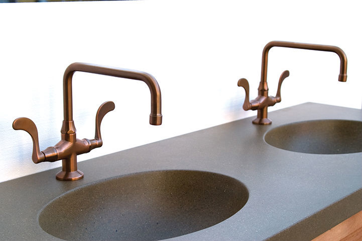 Picture of Sonoma Forge   Bathroom Faucet   Wingnut Fixed Spout   Deck Mount