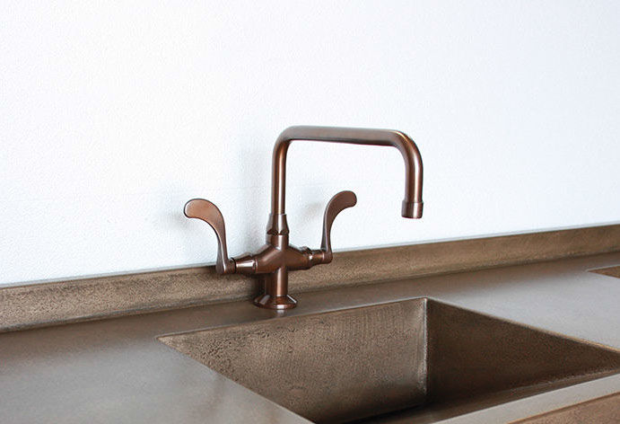 Picture of Sonoma Forge   Bar or Prep Faucet   Wingnut Square Spout   Deck Mount