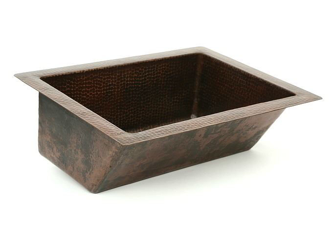 "Picture of 20"" Angled Wall Copper Bathroom Sink by SoLuna"