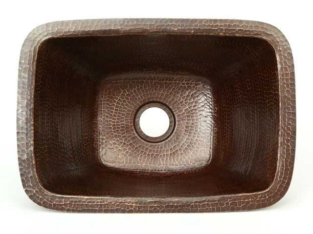 "Picture of 17"" Rectangle Copper Bar Sink by SoLuna"